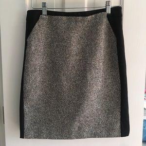 Tweed Panel Pencil Skirt, White House Black Market